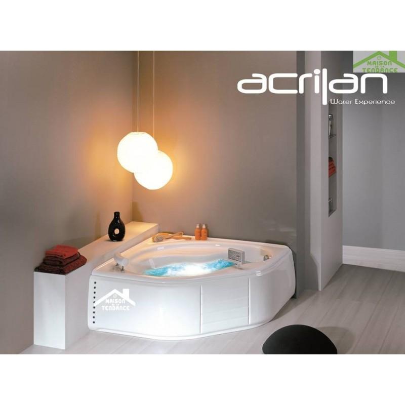 baignoire d 39 angle en acrylique lucite baln o 6 jets ikaria. Black Bedroom Furniture Sets. Home Design Ideas