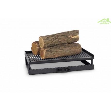 grille de foyer en acier et en fonte 52x31x12 cm maison de la tendance. Black Bedroom Furniture Sets. Home Design Ideas