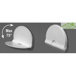 Siège de douche  en ABS blanc 36x29 cm
