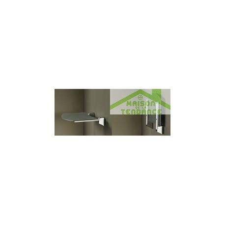 Siège de douche en ABS anthracite 36x35 cm