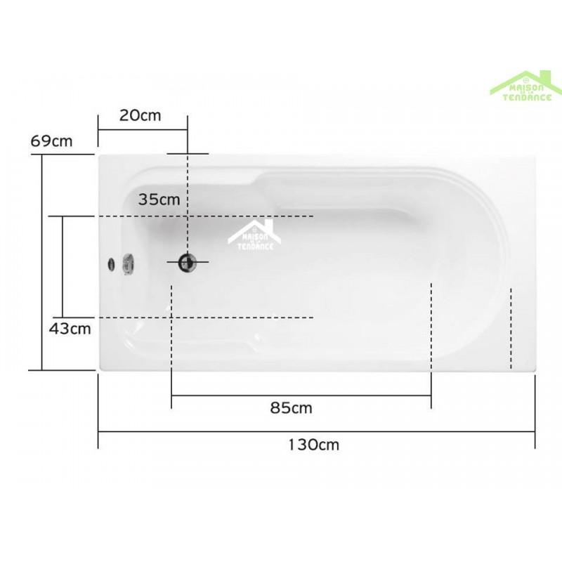 baignoire 130 cm interesting baignoire balno asymtrique. Black Bedroom Furniture Sets. Home Design Ideas