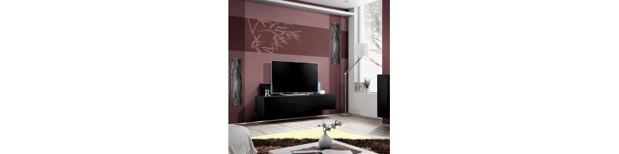 meuble tv suspendre maison de la tendance. Black Bedroom Furniture Sets. Home Design Ideas