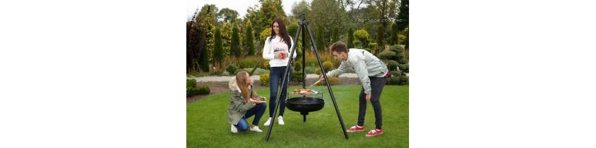 Barbecue sur trépied