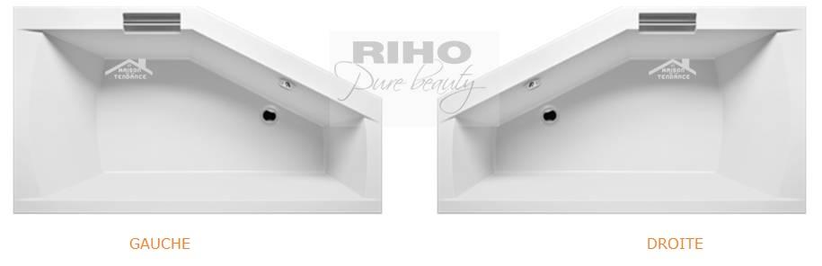 baignoire acrylique riho geta d 39 angle 170x90 cm avec une. Black Bedroom Furniture Sets. Home Design Ideas