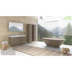 Ensemble meuble & lavabo RIHO ALTARE SET 34   en bois stratifié  130x47 x H56,5 cm