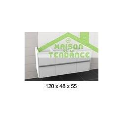 Sous meuble de lavabo en bois stratifié à 6 portes RIHO ANDORA 120x55x48cm