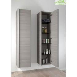 Grande armoire de douche RIHO ANDORA en bois stratifié 50x35x137,4 cm