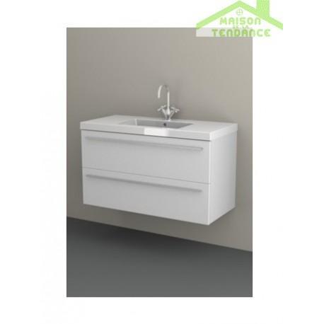 Sous meuble de lavabo 2 portes riho bellizzi 100x55x45 cm - Meuble sous lavabo 45 cm ...