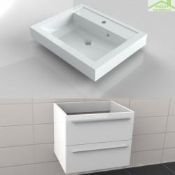 ensemble meuble lavabo riho bologna set 52 60x48x h 58 5 cm. Black Bedroom Furniture Sets. Home Design Ideas