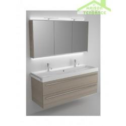 Ensemble meuble & lavabo RIHO BOLOGNA SET 64 en bois stratifié 140x48x H 58,5 cm