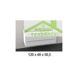 Sous meuble de lavabo RIHO BOLOGNA en bois stratifié 120x48x H 50,5 cm