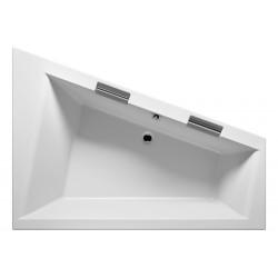 Grande baignoire d'angle acrylique RIHO DOPPIO 180x130 cm avec 2 poignées intégrées