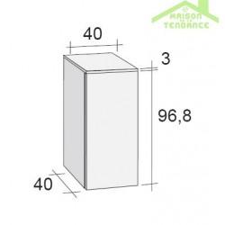 armoire de douche 1 porte riho bologna 40x40 h 96 8 cm. Black Bedroom Furniture Sets. Home Design Ideas