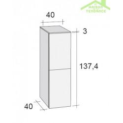 Armoire de douche à 2 portes RIHO BOLOGNA en bois stratifié 40x40 H 137,4 cm