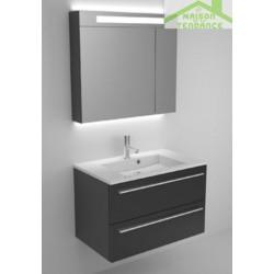 Ensemble meuble & lavabo RIHO BRONI SET 05 en bois stratifié 80X48x H 52,5 cm