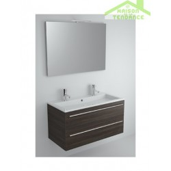 Ensemble meuble & lavabo RIHO BRONI SET 10 en bois stratifié 100x48x H 52,5 cm