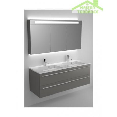 ensemble grand meuble lavabo riho broni set 20 en bois stratifi 140x48x h 52