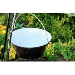 Chaudron pot émaillé avec couvercle sur trépied + brasero MALTA