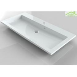 Lavabo à 1 trou en marbre de synthèse RIHO BRONI 100x48 cm