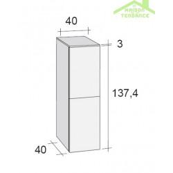 armoire de douche 2 portes gauche riho broni 40x40 h 137 4 cm. Black Bedroom Furniture Sets. Home Design Ideas