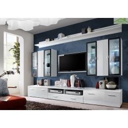 Ensemble meuble TV mural QUADRO avec LED