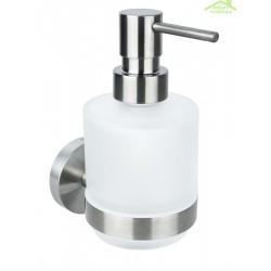 Distributeur de savon liquide NEO en acier inoxydable, en verre  200ml / 15x10x7,5cm