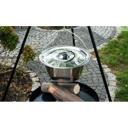 Chaudron pot inoxydable avec couvercle avec trépied + brasero MALTA
