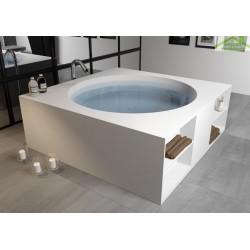 baignoire lot en solid surface riho tarragona 170x170 cm. Black Bedroom Furniture Sets. Home Design Ideas