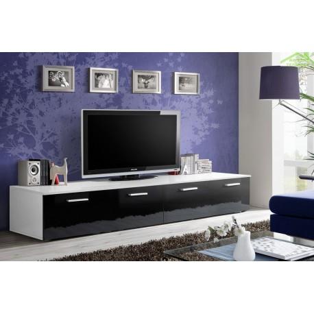 Grand meuble tv duo 200x35x45 cm - Meuble tv infrarouge ...