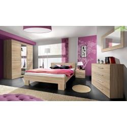 Chambre à coucher adulte complète VICKY II en chêne sonoma
