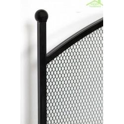 Ecran de cheminée en acier noir 100x72x15 cm
