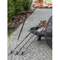 Tisonnier en fer forgé pour pare-feu ou brasero