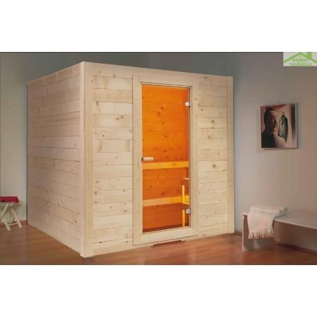 Cabine de Sauna BASIC MASSIV MEDIUM de SENTIOTEC 194,5x156 cm