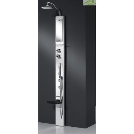 colonne de douche hydromassante m canique ou thermostatique novellini aqua 2 think 1 210 cm. Black Bedroom Furniture Sets. Home Design Ideas