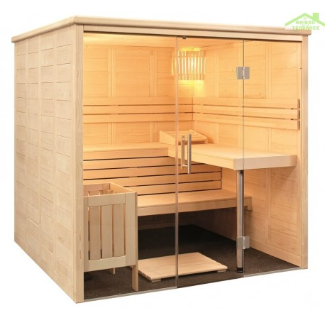 Cabine de Sauna ALASKA VIEW de SENTIOTEC 208x204 cm