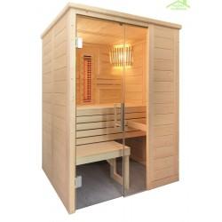 Cabine de Sauna à infrarouge ALASKA MINI INFRA+ de SENTIOTEC 160X110 cm
