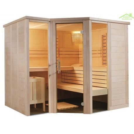 Cabine de Sauna à infrarouge ARKTIS INFRA+ de SENTIOTEC 234x206 cm