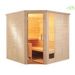 Cabine de Sauna d'angle KOMFORT CORNER LARGE de SENTIOTEC 234x206 cm
