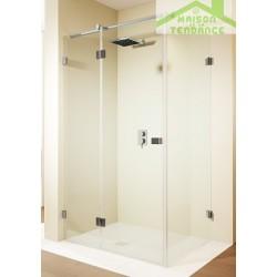 Porte battante de douche universelle RIHO SCANDIC S203 en verre clair