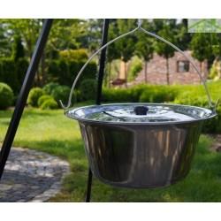 Chaudron pot inoxydable avec couvercle avec trépied + brasero PAN