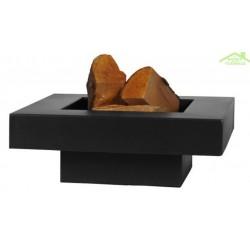 Brasero de jardin carré BACHACHE en acier naturel ou noir
