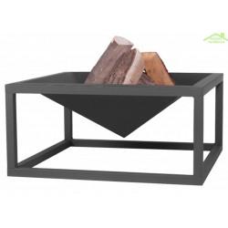 Brasero de jardin carré JUMBO en acier naturel ou noir