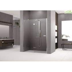 Porte de douche pivotante et fixe en alignement - NOVELLINI GALA 2P