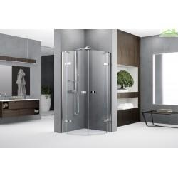 Porte de douche ¼ de cercle avec 2 portes battantes + et 2 fixes - NOVELLINI GALA R - H 200cm