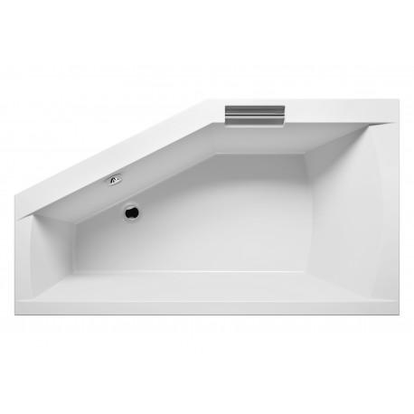 Baignoire acrylique RIHO d'angle GETA 160x90 cm avec une poignée intégrée