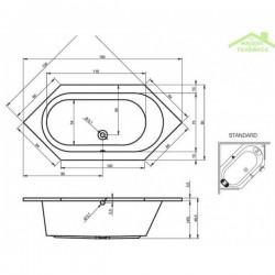 Baignoire acrylique RIHO KANSAS 190x90 cm
