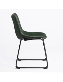 Chaise vintage tapissée en...