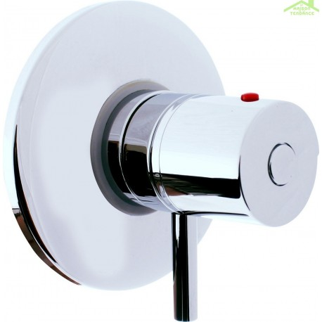 Mitigeur douche encastrable thermostatique en chrome - Mitigeur thermostatique douche encastrable ...