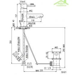 mitigeur lavabo pour enfant avec siphon. Black Bedroom Furniture Sets. Home Design Ideas