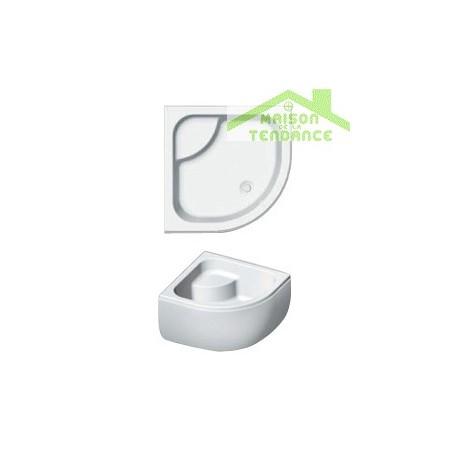 Receveur de douche acrylique quadrant avec assise et tablier RIHO 343 90x90x35cm
